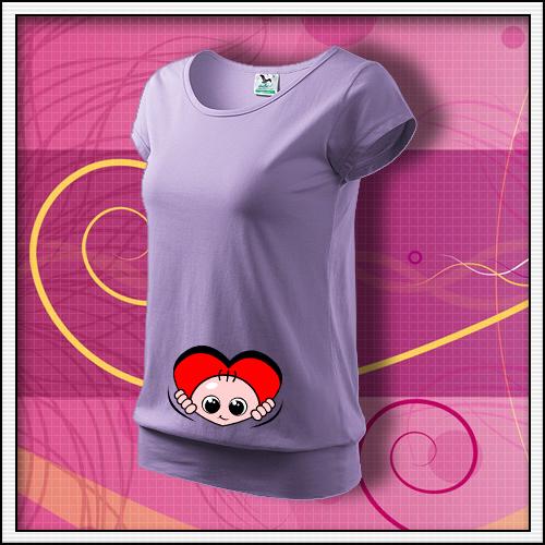 f70e5d13d6 ... Vtipné tehotenské tričko srdce